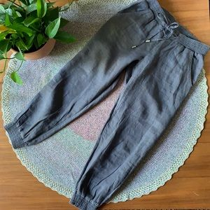 Benetton Jeans Relaxed Fit Linen Cropped Jogger 29